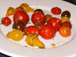 baby heirloom tomatoes marinated in vodka